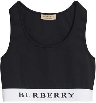 Burberry Logo Stretch Jersey Bra Top