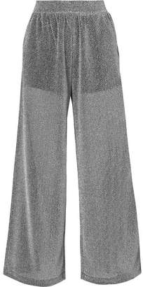 MM6 MAISON MARGIELA Lurex Wide-leg Pants - Silver