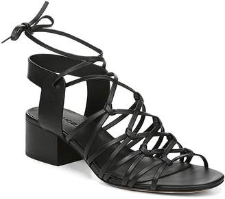 bcced29b142 Vince Women s Beaumont Leather Lace Up Block Heel Sandals