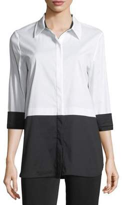 Misook Classic Stretch Colorblock Blouse