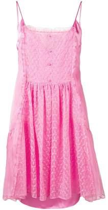 Stella McCartney Lace Panel Silk Slip Dress