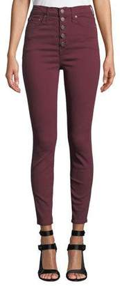Alice + Olivia AO.LA by Alice+Olivia Good High-Rise Twill Skinny Jeans with Exposed Fly