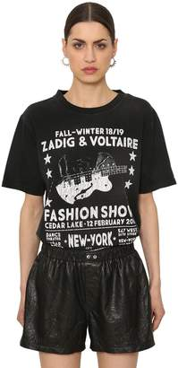 Zadig & Voltaire Fashion Show Print Cotton Jersey T-Shirt