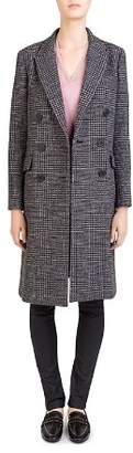 Gerard Darel Mae Double-Breasted Glen-Plaid Coat