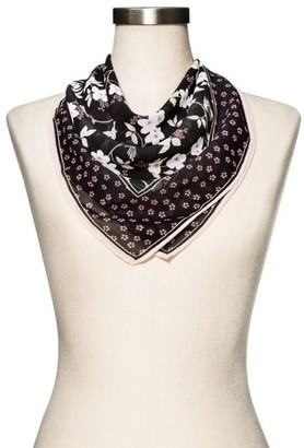 Merona Women's Black Floral Fashion Scarf $9.99 thestylecure.com
