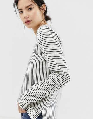 Ichi Stripe Long Sleeve Top