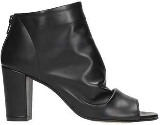 Marc Ellis Black Nappa Leather Ankle Boots