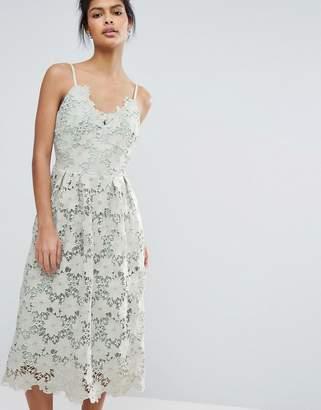 Little Mistress Premium Lace Cami Dress $103 thestylecure.com