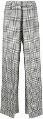 Aalto checked wide leg trousers