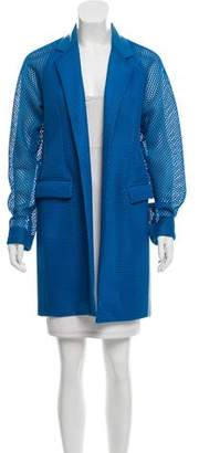Reed Krakoff Open Knit Notch-Lapel Jacket