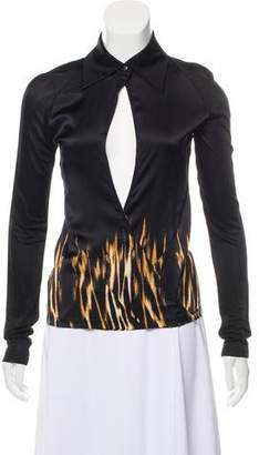 Just Cavalli Long Sleeve Silk Blouse