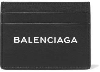 Balenciaga Everyday Printed Textured-leather Cardholder - Black