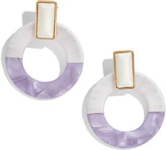 BaubleBar Emelda Two Tone Circle Drop Earrings