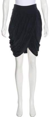 BCBGMAXAZRIA Knee-Length Silk Skirt
