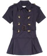 Burberry Cynthie Stretch Cotton Trench Dress