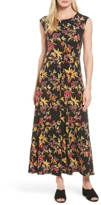 Women's Chaus Floral Sparks Jersey Maxi Dress $99 thestylecure.com
