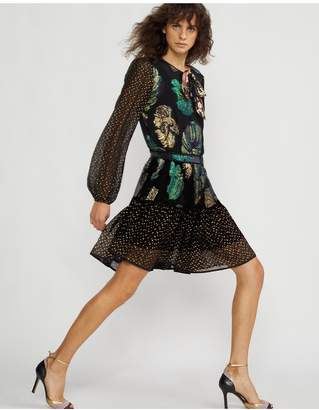 Cynthia Rowley Inverness Mixed Metallic Fish Dress