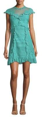 Three floor Skylight Ruffle Mini Dress