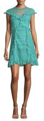 Three floor Skylight Ruffle Mini Dress