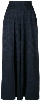 Talbot Runhof wide leg camouflage trousers