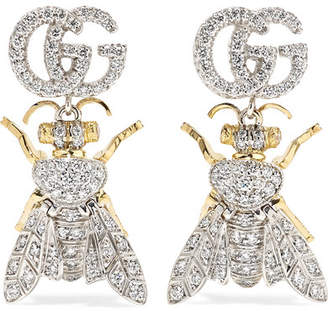 6a1a78063d4 Gucci Le Marche Des Merveilles 18-karat Yellow And White Gold Diamond  Earrings