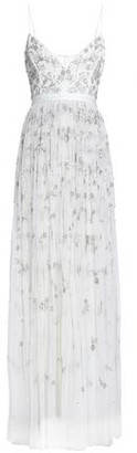 Needle & Thread Astral Tie-Back Crepe-Paneled Embellished Tulle Gown