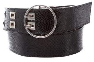 Proenza Schouler Leather Circle Buckle Belt