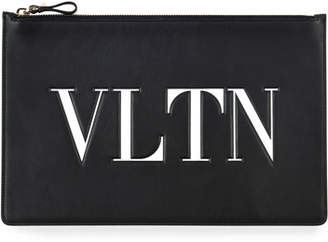 Valentino VLTN Large Flat Pouch Clutch Bag