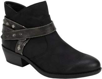 White Mountain Moto Style Ankle Booties - Sandy