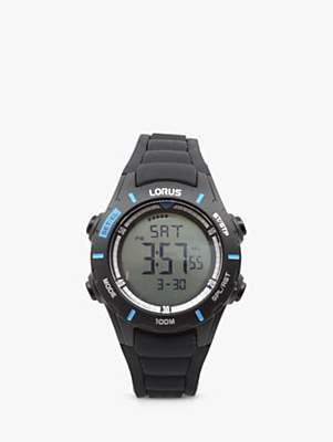 Lorus Unisex Digital Silicone Strap Watch