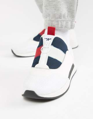 Tommy Jeans icon sport flexi sole sneaker in red white and blue