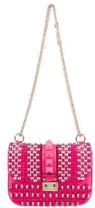 Valentino Small Rockstud Lock Flap Shoulder Bag