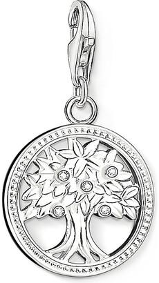 Thomas Sabo Charm club silver and zirconia tree of life charm pendant