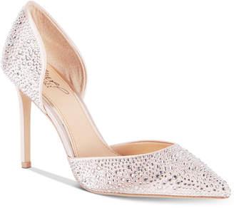 Badgley Mischka Alexandra Embelished Pointed-Toe Evening Pumps Women's Shoes