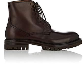 Barneys New York Men's Leather Lace-Up Ankle Boots - Brown