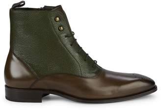 Mezlan Two-Tone Leather Oxford Boots