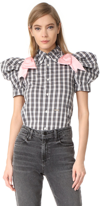 DSQUARED2 Puff Short Sleeve Top $750 thestylecure.com