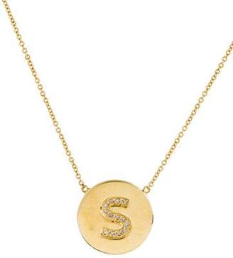 Jennifer Meyer Diamond Initial 'S' Pendant Necklace