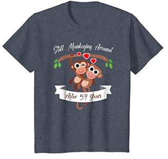 59th Wedding Anniversary T-Shirt Funny Monkey Couple Shirt