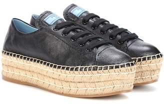 Prada Platform leather sneakers