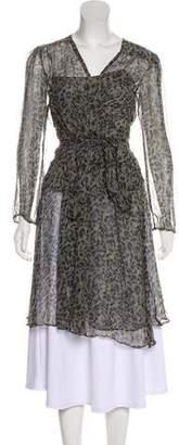 Calypso Sheer Silk Dress