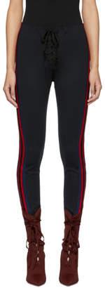 Yeezy Black Striped Football Leggings