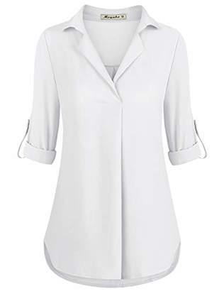 Moyabo Women Tunics for Leggings Long Sleeve T-Shirt Comfortable Ladies Cuffed Tunic Blouses