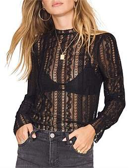 Amuse Society All About That Lace Top