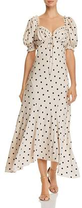 Ronny Kobo Miri Polka-Dot Dress