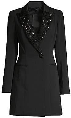 Jay Godfrey Women's Ace Sequin Lapel Tuxedo Dress