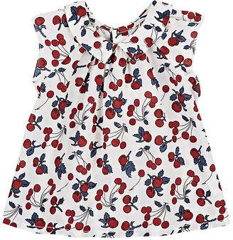 Bonpoint Cherry-Print Cotton Blouse $125 thestylecure.com