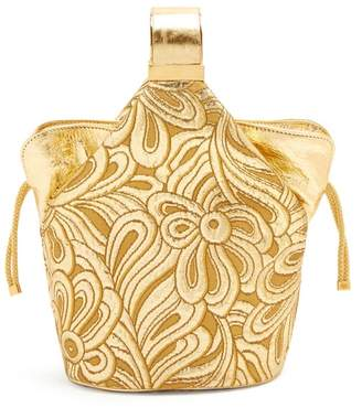 Bienen Davis Bienen-davis - Kit Floral Brocade Clutch - Womens - Gold