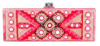 Edie Parker Flavia Panel Embroidered Clutch