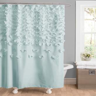 Lush Decor Lucia Fabric Shower Curtain